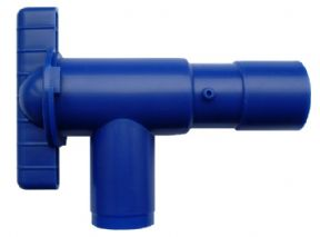 28mm BLUE FRESH WATER DRAIN TAP VALVE